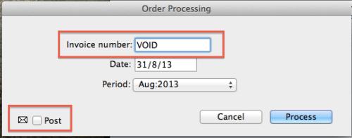 MoneyWorks process Purchase Order
