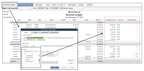 View foreign amount in QuickBooks