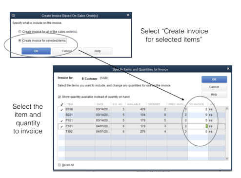 Create An Invoice In QuickBooks For Selected Items From Multiple - Create invoice in quickbooks