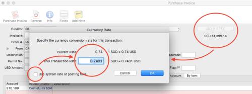 Change exchange rate