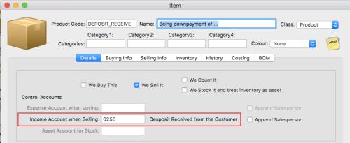deposit item