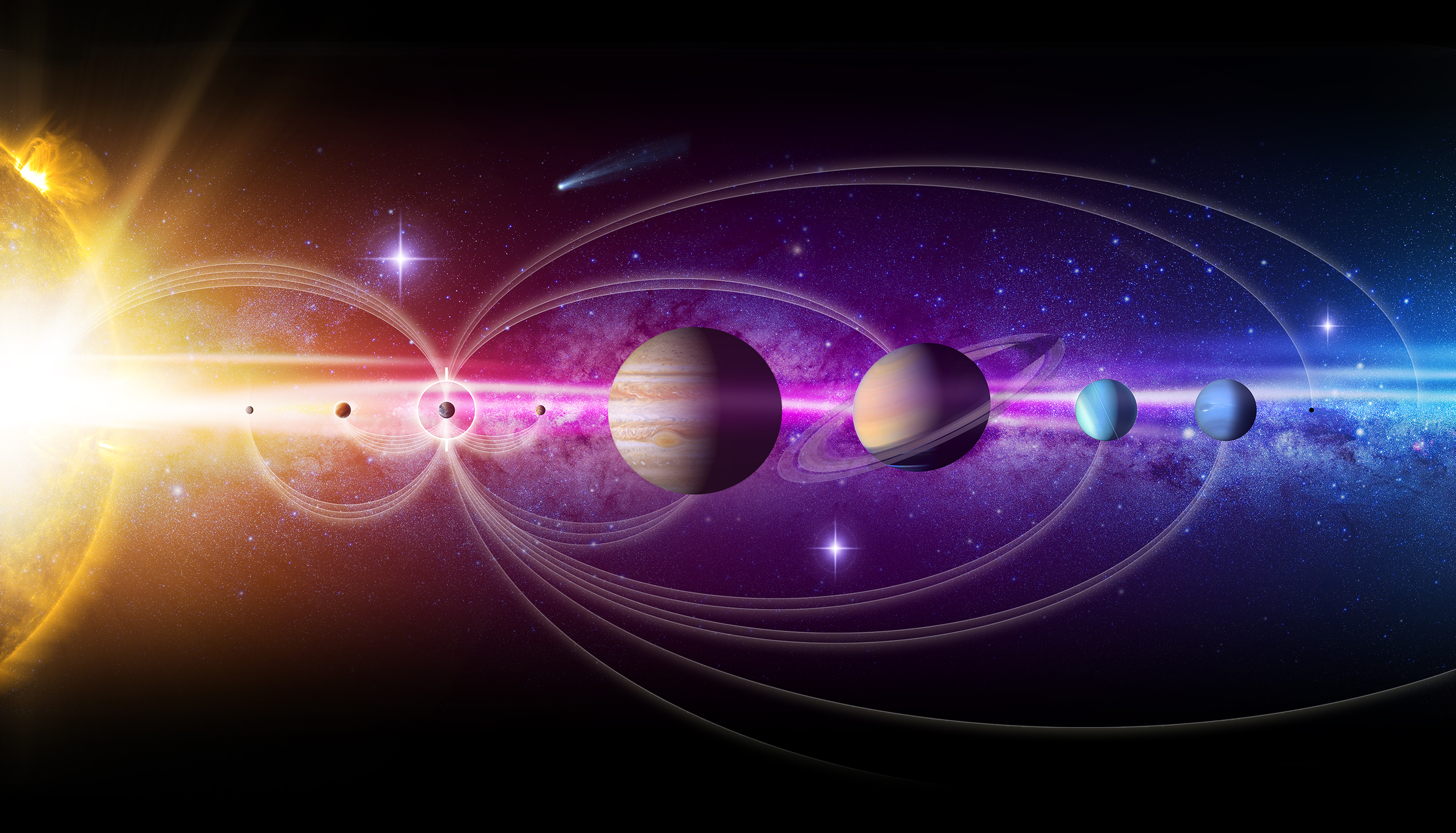 Artist S Concept Our Solar System