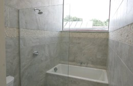 IMPOSING Master Bath in Riverfront Loft