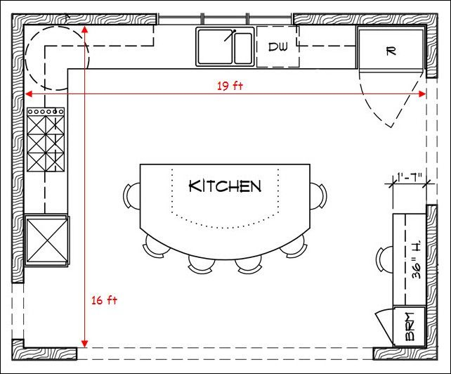 Kitchen Floor Plans