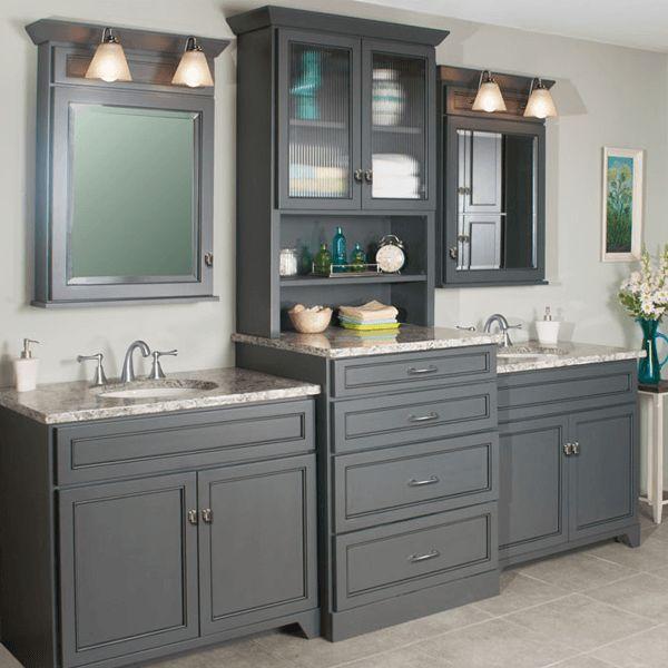 double sink bathroom vanity with linen