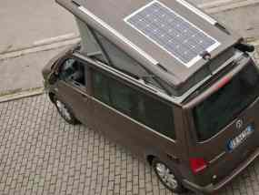 VW California Camping Wohnmobil Solar Photovoltaik Solarpaneel SunPower Solbian begehbar flach dünn leicht aufgeklebt