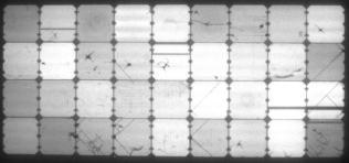 Elektrolumineszenz-Aufnahme des flexiblen Solarmoduls aus China vor dem Winter