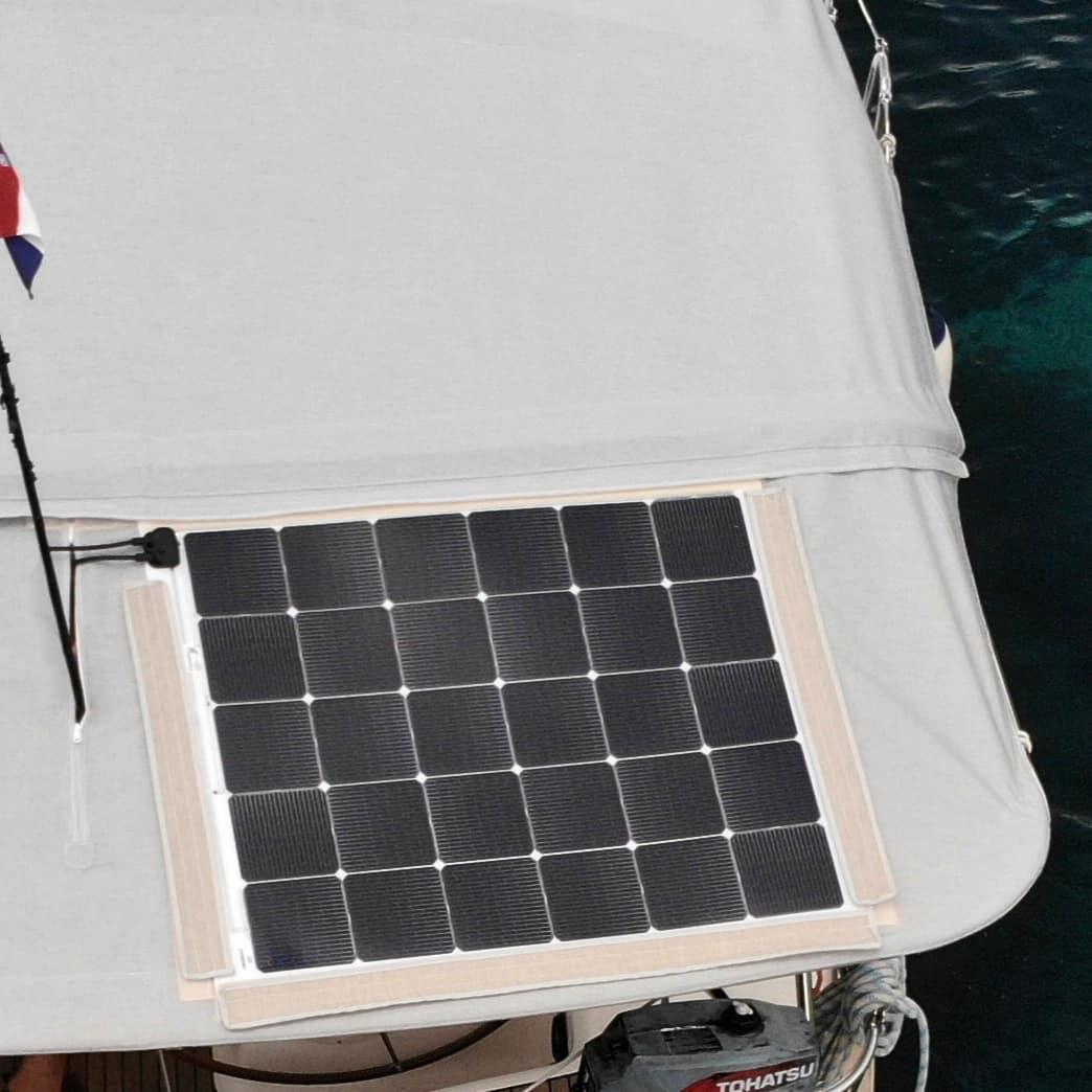 Bavaria 50 Bimini Solar panel Solbian Velcro