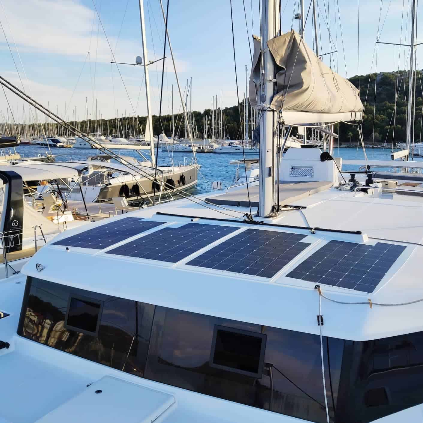 Dufour 48 Catamaran Solar Photovoltaics walkable Solbian
