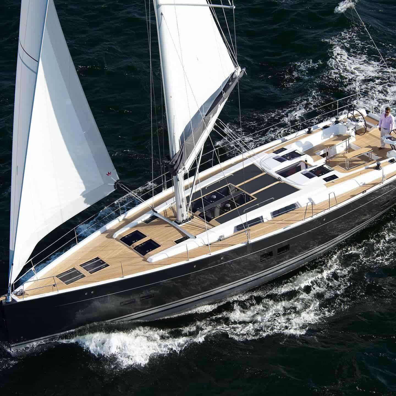 Hanse 575 sailing yacht solar system walkable deck Solbian