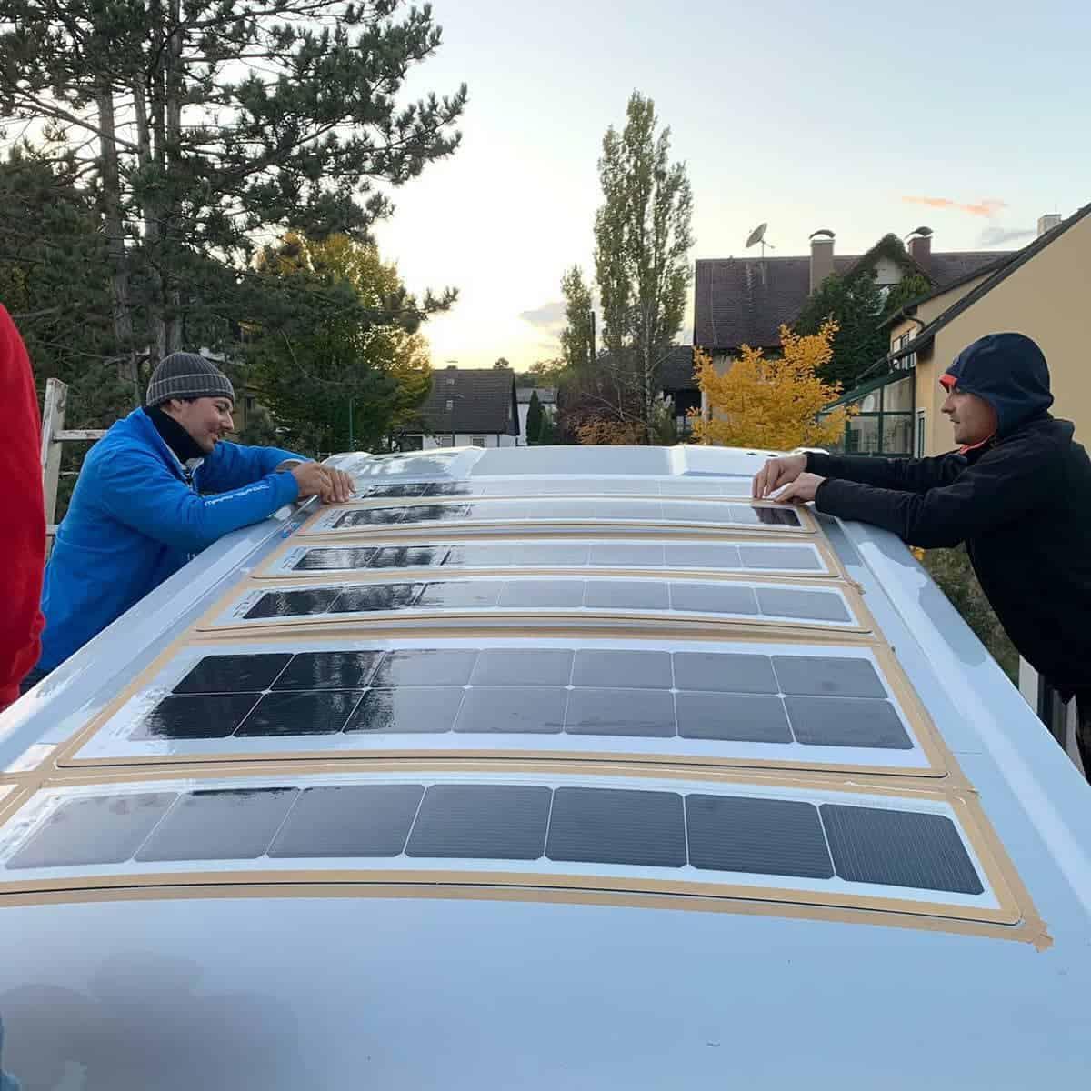 Fiat Ducato Hymer Hymercar Free 600 Solar Solaranlage Dach Solbian