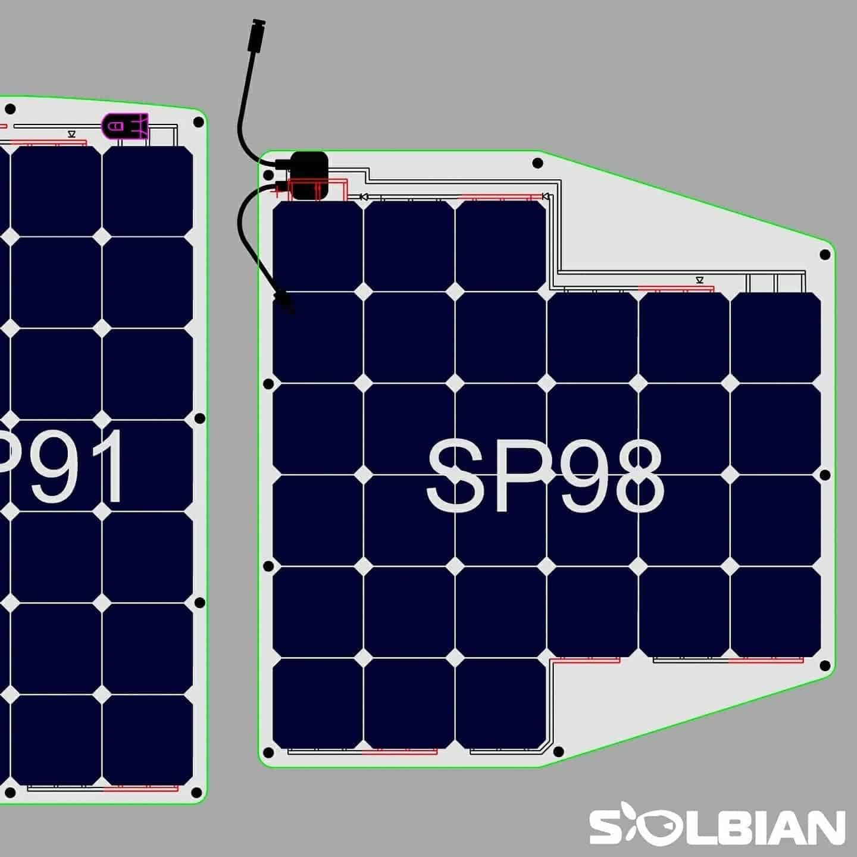 Solarmodul LOXX TENAX Bimini Sprayhood Segelyacht Solbian