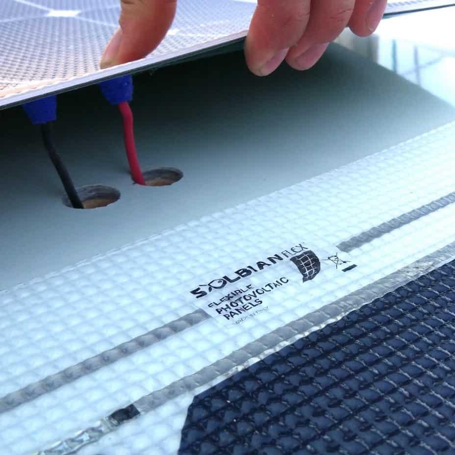 Solbian Solar rear wire walkable solar panel