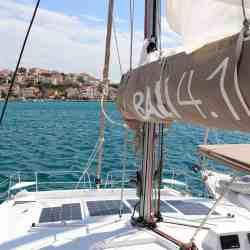 Catana Bali 4.0 4.1 sailing catamaran walkable photovoltaic system Solbian solar