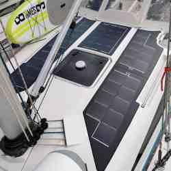 Solbian Solar Elan 340 sailing yacht boat solar photovoltaic system walkable black