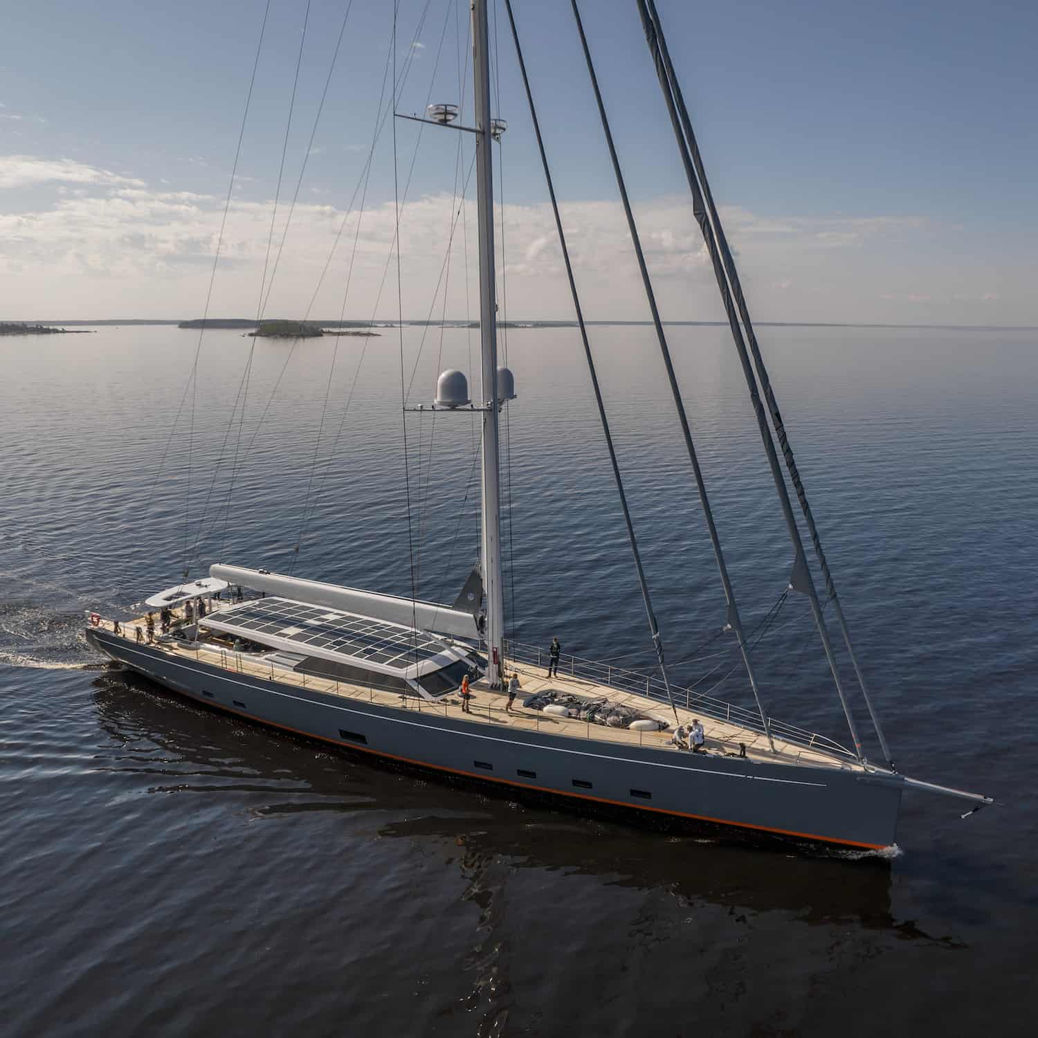 Baltic 146 PATH superyacht Solbian solar photovoltaik largest in the world walkable custom-made bespoke yacht sailing drone
