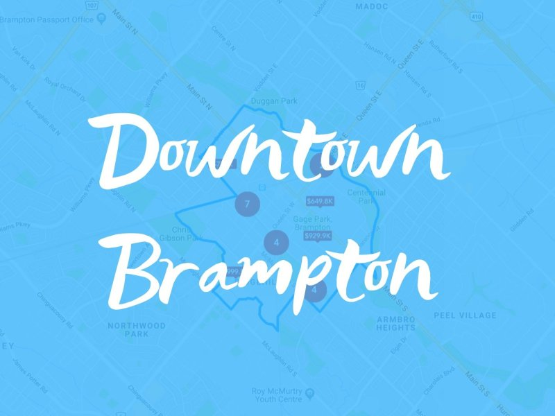 Downtown Brampton Neighbourhood Properties for Sale