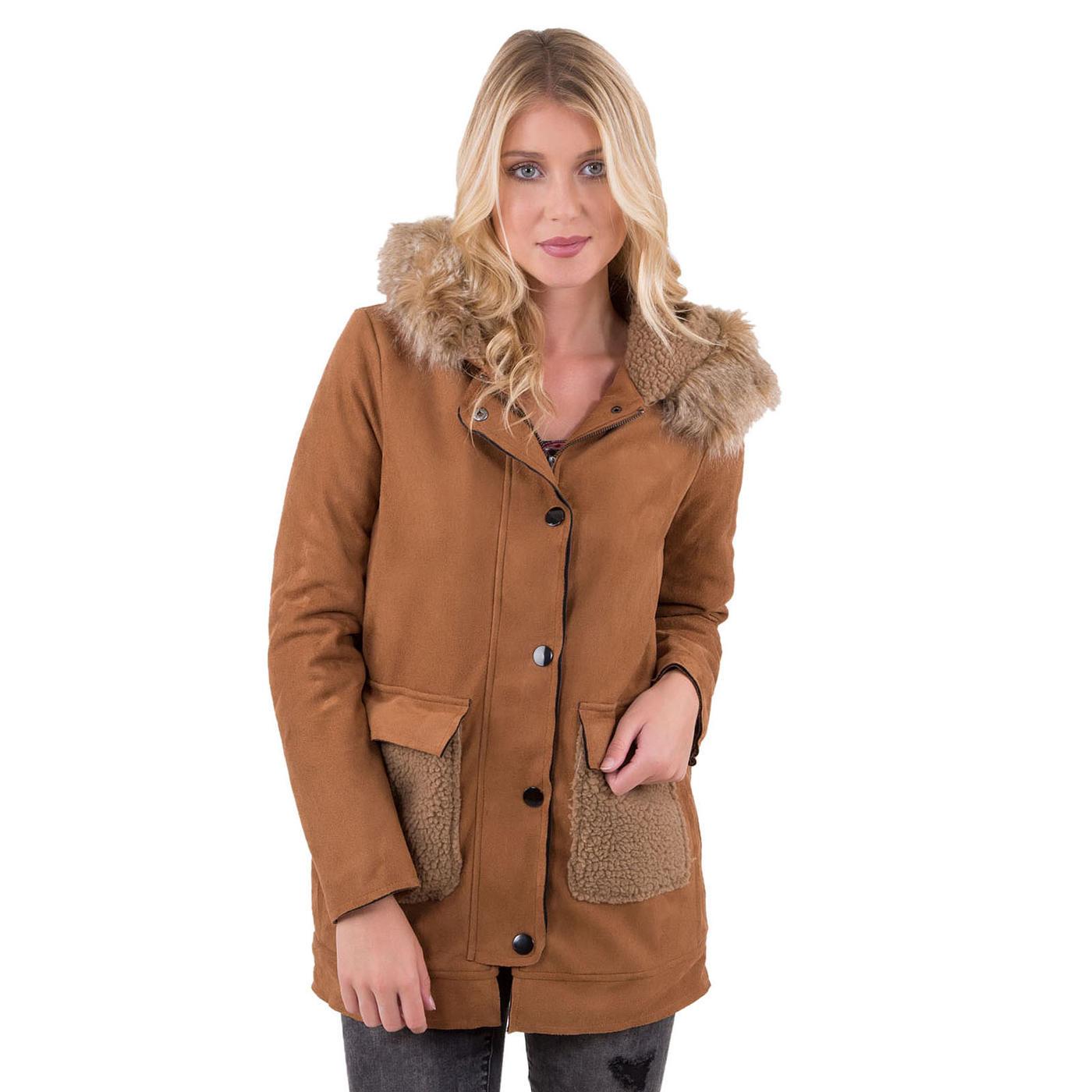 Manteau effet peau lainée 34 MIM
