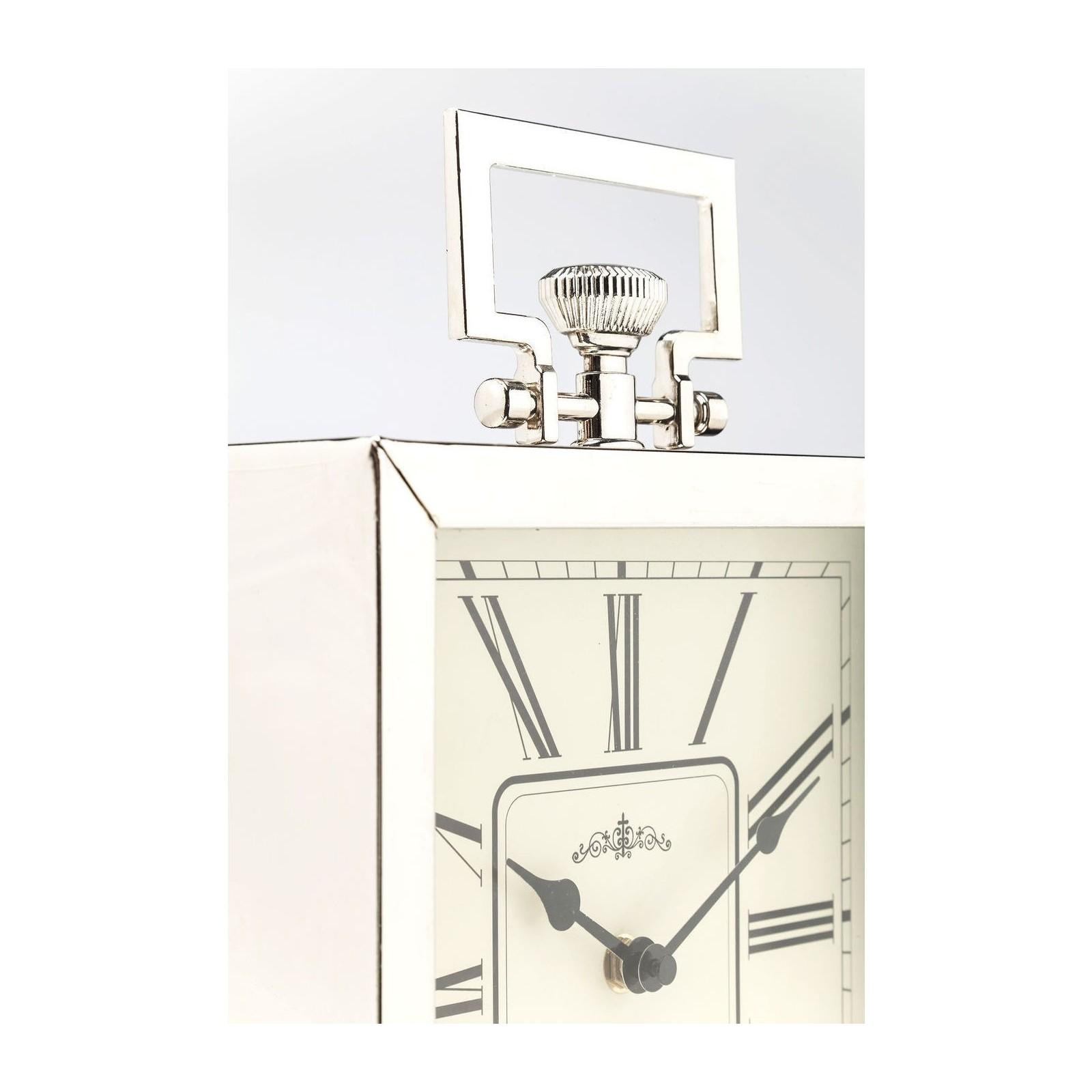 Horloge de table Pocket carré argentée 26cm Kare Design