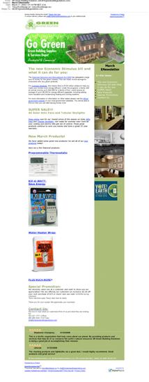eNewsletter Design 3R Green Building Supplies