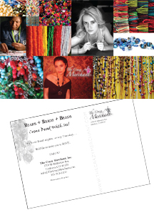 The Crazy Merchant, LLC Trunk Show Postcards