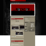 RockCor Website Design, Blogsite Installation, Guitar Equipment Website Design