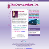 Jewelry Website Design, The Crazy Merchant, Content Management Solution