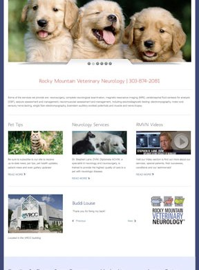 Rocky Mountain Veterinary Neurology Website reDesign Services