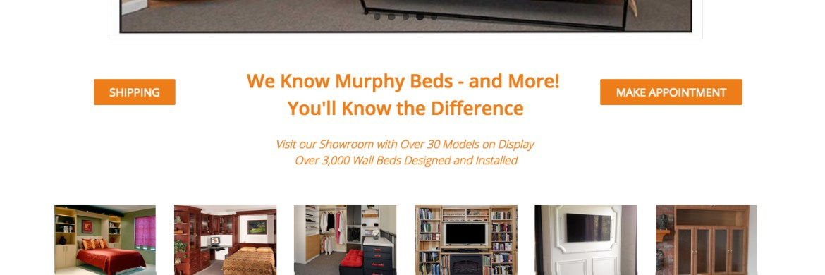 Murphy Bed Store Website Design, SmartSpaces.com, Denver Website Designer