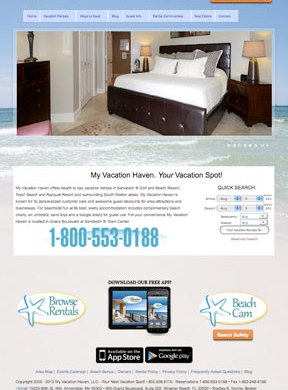 My Vacation Haven Rentals Website