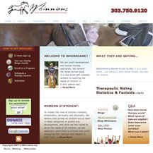 Whinnians Horseback Riding Website