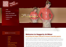 Haggerty ArtWear custom apparel design website design services