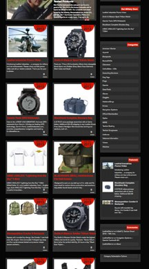 Military Equipment Online Warehouse Website Design