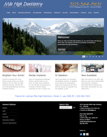 Mile High Dentistry Website