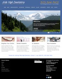 Mile High Dentistry Website