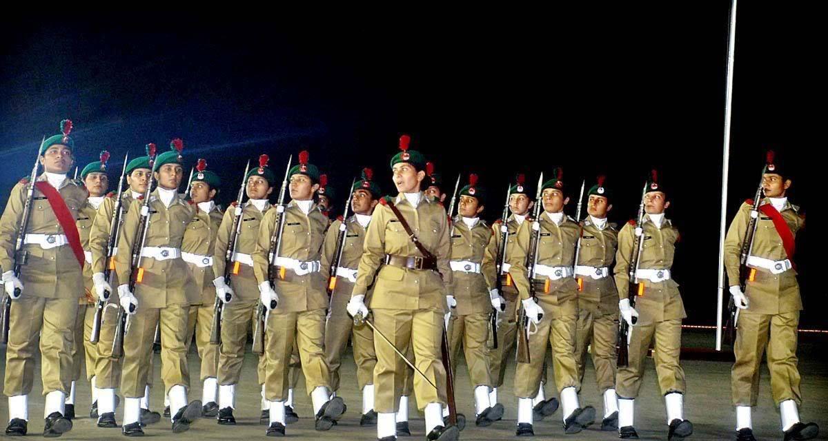 Pakistan Army Lady Cadets parade