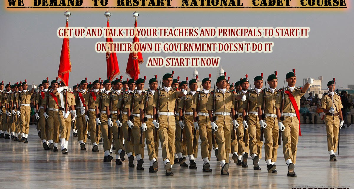 We demand resuming NCC in Pakistan