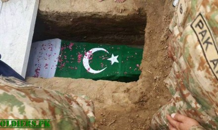 Soldiers Grave with Flag