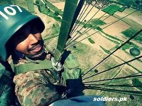 The picture show that the soldier from SSG capture picture during Parachute Jump. it's very difficult task but SSG soldiers fulfill these task very easily because their training is very tough, and during training they learn many difficult task .