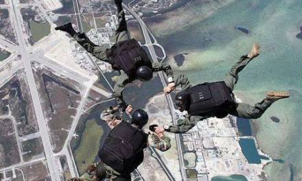 Free fall of SSG commando from aircraft