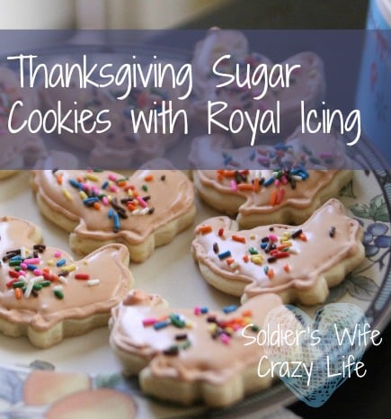 Thanksgiving Sugar Cookies with Royal Icing
