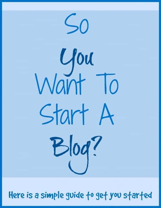 So You Want To Start A Blog?