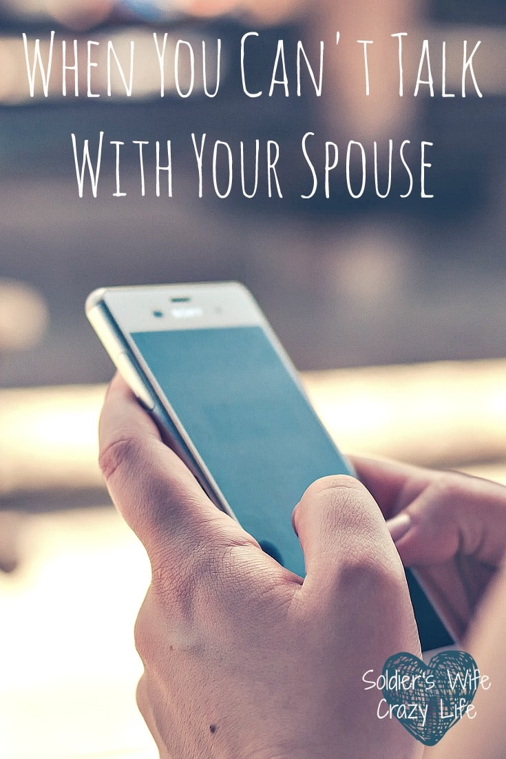 When You Can't Talk With Your Spouse