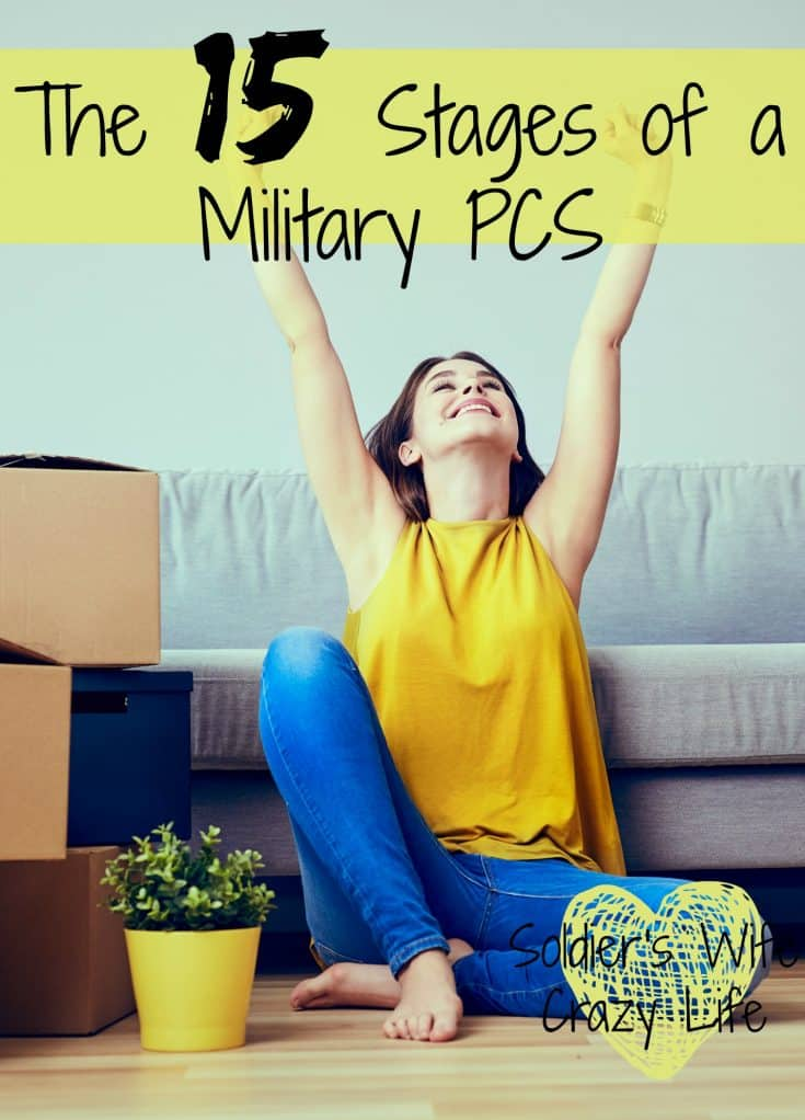 The 15 Stages of a Military PCS PCS season is around the corner and life is getting quite hectic for quite a few military families. Although it has been a while since our family has gone through a military PCS, I remember the process and how stressful and crazy everything can be. 1. Bored and ready to move After you have been at your duty station for two or three years, you probably start to feel ready to make a change. You know you are going to be moving this year, you want to know where, and you are ready to start the process. 2. Soft orders, start planning You hear where you are going to go. If you are happy with this choice, you are worried that will change. If you are not, you are praying it will. You still need to be patient to wait for the physical orders before any of your PCS dreams (or nightmares) can come true. 3. Orders change Your orders have changed. You assumed you would be spending the next three years in Hawaii, sorry, it's El Paso. There is still a chance they could change again, but you aren't holding out much hope. Try to just go with the flow and to not worry too much about the changes until things become set in stone. 4. Hard orders cut, it's for real Okay, you are going to this duty station. This is for real. Time to start your planning. You start asking in your local Facebook groups and Google all things about your new duty station. This is an exciting time, but then you start to feel a bit overwhelmed. 5. Stressed out with all you have to do There is so much to do with a PCS. So many lists to make. So much to get done beyond your everyday lives. Make sure to create some system for everything you have to do and all the paperwork you need. Starting a PCS binder can be a very good idea but you can also just make sure you have a safe place for everything that is easy to take with you on the plane or in your car. 6. Get organized and plan This is the stage where you decide if you want to live on base or not. If you want to live off, where you sho