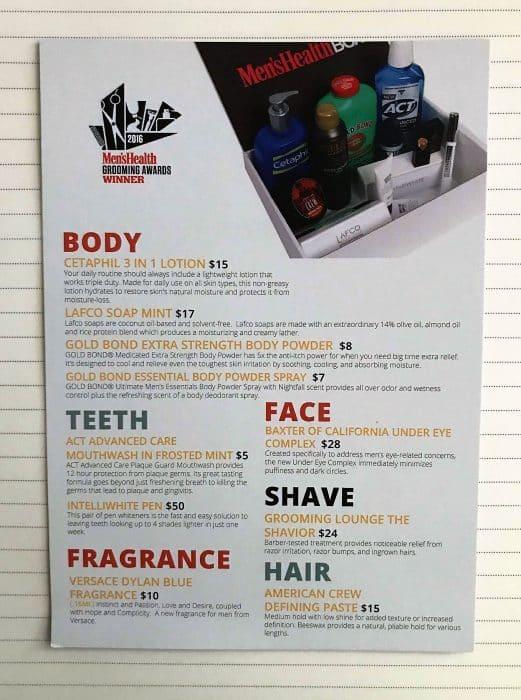 The Men's Health Box
