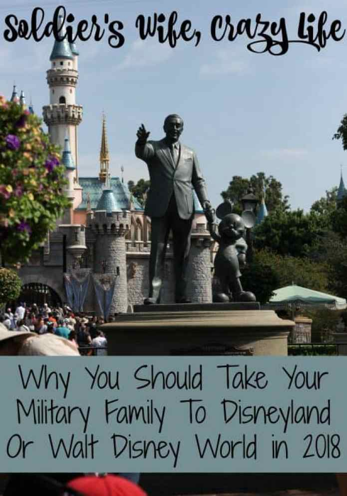 Why You Should Take Your Military Family To Disneyland Or Walt Disney World in 2018