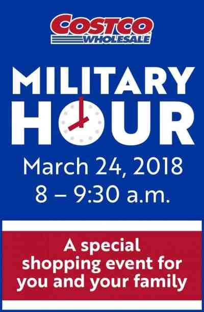 Costco Military Hour event