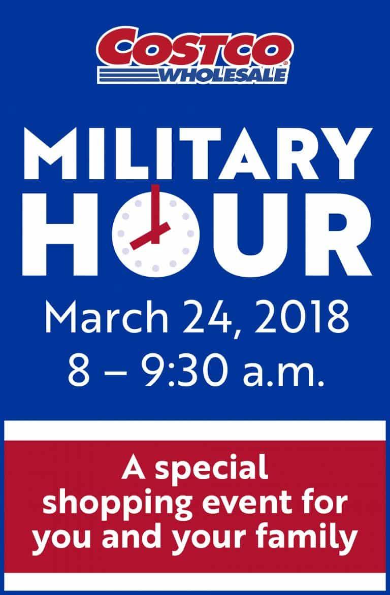 Costco Military Hour event
