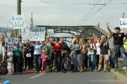 Kiezdemo gegen Verkehrslärm Berlin Böse Brücke Jülicher Malmöer strasse (5)
