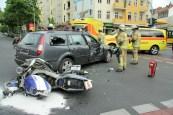 schwerverletzte motorradunfall osloer strasse prinzenallee Berlin (2)